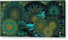 Acrylic Print featuring the digital art Peacock Fantasia by Charmaine Zoe