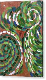 Peacock Acrylic Print by Kristin Whitney