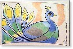 Peacock Acrylic Print by Loretta Nash