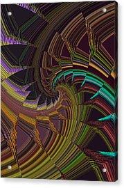 Peacock Tail Abstract Acrylic Print