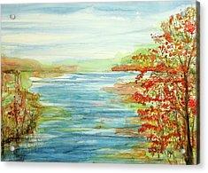 Peak At The Lake Acrylic Print