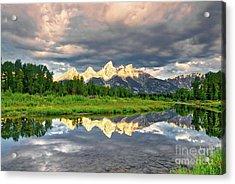 Peak Reflections 5 Acrylic Print by Mel Steinhauer