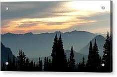Acrylic Print featuring the photograph Peaks And Valley by Larry Keahey