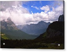 Peaks And Valleys Glacier National Park Acrylic Print