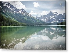 Peaks At Lake Josephine Acrylic Print
