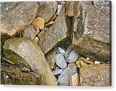 Peaks Island Rock Abstract Photo Acrylic Print by Peter J Sucy
