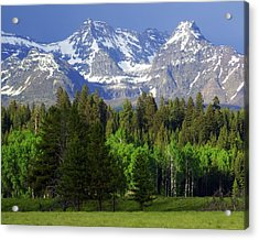 Peaks Acrylic Print by Marty Koch