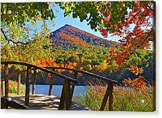 Peaks Of Otter Bridge Acrylic Print