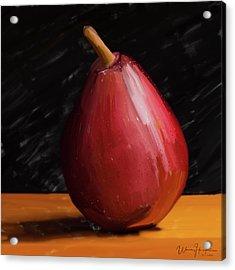 Pear 01 Acrylic Print by Wally Hampton