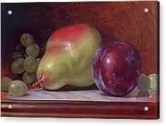 Pear And Plum Acrylic Print