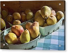 Pear Golden Acrylic Print by Caitlyn  Grasso