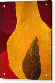Pear Shaped Acrylic Print by Chris  Riley