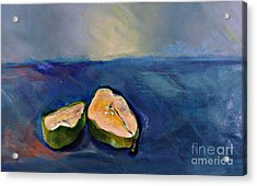 Pear Split Acrylic Print by Daun Soden-Greene