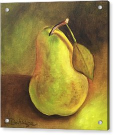 Acrylic Print featuring the painting Pear Study  by Susan Dehlinger