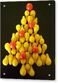 Pear Tomatoe Tree Acrylic Print by Jeanette Oberholtzer