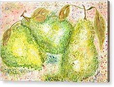 Pear Trio Acrylic Print