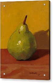 Pear With Yellow Acrylic Print