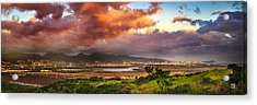 Acrylic Print featuring the photograph Pearl Harbor Sunset by Geoffrey Lewis