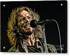 Pearl Jam Eddie Vedder Collection Acrylic Print by Marvin Blaine