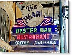 Pearl Oyster Bar Acrylic Print