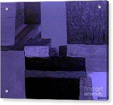 Pearlescent Purple Abstract Acrylic Print by Marsha Heiken