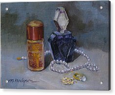 Pearls And Perfumes Acrylic Print by Margaret Hodgson