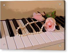 Pearly Pink Keys Acrylic Print