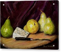 Pears And Cheese Acrylic Print by Jack Skinner
