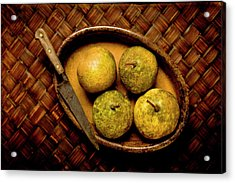 Pears And Dish Acrylic Print