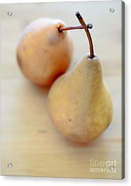 Pears Acrylic Print by Edward Fielding