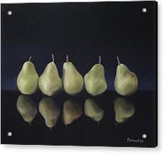 Pears In Black Acrylic Print