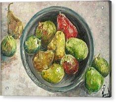 Pears In Bowl Acrylic Print by Carol P Kingsley