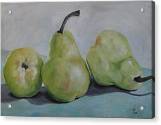 Pears Acrylic Print by Julie Clanton