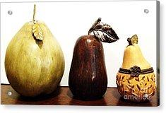 Pears Acrylic Print by Marsha Heiken