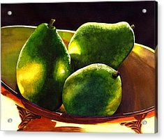 Pears No 2 Acrylic Print by Catherine G McElroy