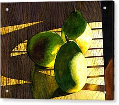 Pears No 3 Acrylic Print by Catherine G McElroy