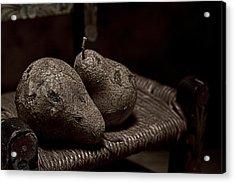 Pears On A Chair I Acrylic Print by Tom Mc Nemar