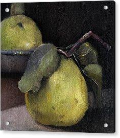 Pears Stilllife Painting Acrylic Print