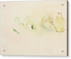 Pears Two Acrylic Print by Daun Soden-Greene