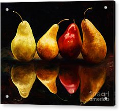 Pearsfect Acrylic Print by Laurie Hein