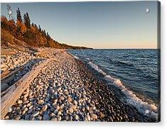Pebble Beach Autumn    Acrylic Print