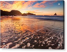 Pebble Beach Acrylic Print by Darren White