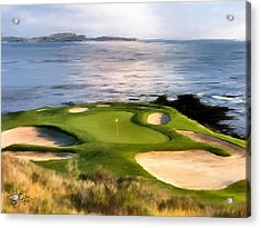 Pebble Beach No.7 Acrylic Print by Scott Melby