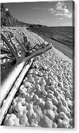 Pebble Beach Winter Acrylic Print