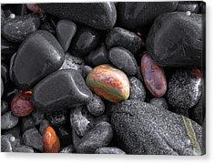 Pebble Jewels   Acrylic Print