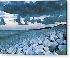 Pebbled Beach Acrylic Print