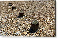 Pebbles And Wood Acrylic Print