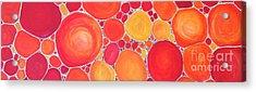 Pebbles At Sunset  Acrylic Print