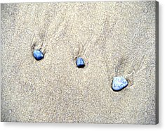 Pebbles In The Sand Acrylic Print