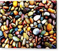 Pebbles On A Beach Acrylic Print
